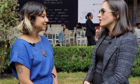 Entrevista con Cristina Junqueira en el Women's Forum Américas 2019