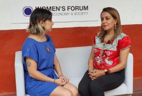Entrevista con Mariana Benítez en el Women's Forum Américas 2019